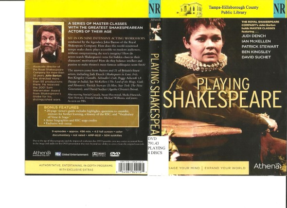 Playing shakespeare_cover_DVD