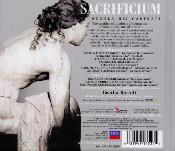 SACRIFICIUM - CECILIA BARTOLI - DELUXE 2CD - LIMITED EDITION